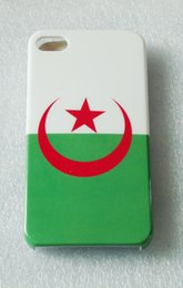 Wholesale Phone 4gs - Red Morocco Tunisia Flag Five-Pointed Star Algeria Berber Algiers Flag Pattern Hard Back Cover Cell Mobile Phone Case For Iphone 4 4G 4GS