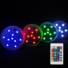 Wholesale Emergency Led Waterproof - 10 LED Submersible Candle Lamp Remote Control Multicolor Floral Vase Base Waterproof Light Wedding Birthday Party Decoration