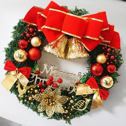 Wholesale Indoor Wreaths - 2017 New Fashion Christmas wreath New Year Christmas Decorations For Home Door and Window Decorations Luxury Merry Christmas Party