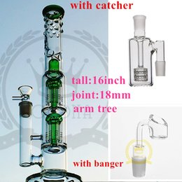 Wholesale Green Spin - pink glass bong Grace bong glass water pipes Purpler Green Pink 4 colors glass bongs Recycler oil rigs with spin ball 16 inch smoking pipe