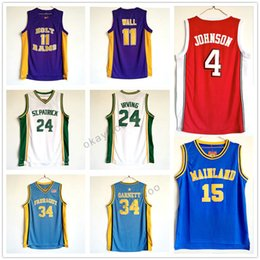Wholesale St 15 - Mainland #15 Vince Carter #2 John Wall High School College Stitched Jersey UNLV #4 Larry Johnson 24 St. Patrick 34 Farragut 31 Reggie Miller