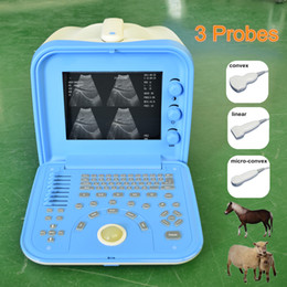 Wholesale Probe Vet - New! Portable Cheap Veterinary Ultrasound machine vet handheld ultrasou with three probes  Dog Pig Sheep Cow Horse Pregnancy Test Ultrasound