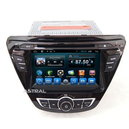 Wholesale Rds Car Stereo - Double Din Car Radio GPS Navigation Quad Core Android for Hyundai Elantra 2013 2014 Bluetooth USB RDS TV OBD2 Car Dvd CD Player