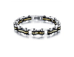 Wholesale Bicycle Link Bracelet - Hot Bicycle Chain Bracelet Mens Titanium Stainless Steel Wholesale Jewelry Gold Silver Fashion Jewelry Free Shipping
