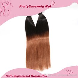 Wholesale Brazilian Virgin Remy Straight 5a - Malaysian Hair Two Tone #1B 30 Ombre Color Straight Human Hair A Pack of One Hair Wefts Hair Extensions Unprocessed Remy Virgin Hair 5A
