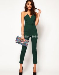 Wholesale Tight Fitted Jumpsuits - lady summer siamese trousers female fashion jumpsuit pants mujeres one piece conjoined coverall vogue girl tight fitting rompers