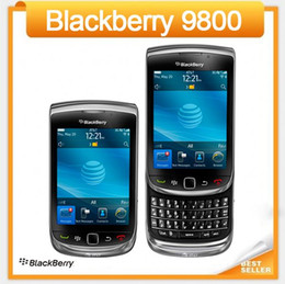 Wholesale Black Cheapest Blackberry - Cheapest Original 9800 Unlocked Blackberry Torch 9800 GPS WIFI 3G cellPhone Refurbished