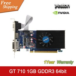Wholesale Nvidia Geforce Gt - High qualityYESTON NVIDIA Graphics Card GeForce GT 710 GPU 1GB GDDR3 64bit VGA HDMI DVI Original Desktop Graphics Card