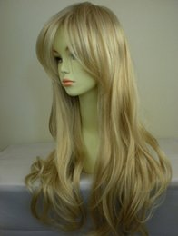 Wholesale Long Curly Blonde Fashion Wigs - 26 '' lolita long wigs drag queen wigs synthetic lace front wig gold heat resistant curly wig fresh and lovely Fashion new 2015