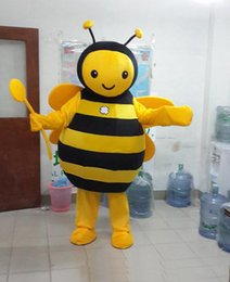 Wholesale mascot cartoon costumes - High quality bee mascot costume cute cartoon clothing factory customized private custom props walking dolls doll clothing
