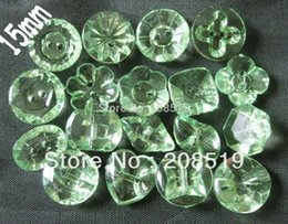 Wholesale Acrylic Button Assorted - 15mm buttons Assorted craft buttons mix 150pcs for 18 shapes Acrylic buttons for shirt