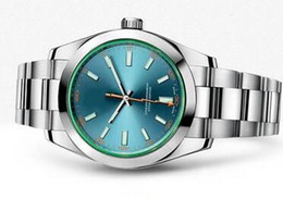 Relógios impermeável on-line-Frete Grátis Por Atacado de Luxo Mens Relógios de Aço Inoxidável Buckles Diver Relógio Automático Mecânico Data Homens Vestido Relógios de Pulso Melhores Marcas
