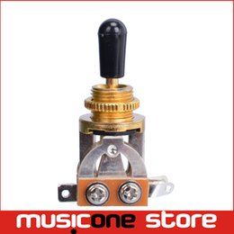 Wholesale Toggle Switch Tip - Gold 3 Way Electric Guitar Pickup Toggle Switch Selector Toggle Switch With Brass material Tip Knob & Logo Wholesale MU0215