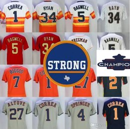 Wholesale Gold Shorts Women - Men Women Kids 2017 Houston Strong & Champions Patch Jerseys Carlos Correa George Springer Jose Altuve Nolan Ryan Alex Bregman Verlander