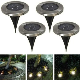 Wholesale Outdoor Ground Lighting - Bright 2LED Outdoor Solar Ground Lamp New LED Garden lawn light Solar Powered Led Underground Lights