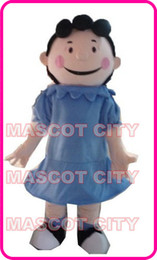 Wholesale Clown Cartoon - Charlie Brown Lucy Mascot Costume Adult Hot Sale Anime cosply Cartoon Character Mascotte Mascota Fancy Dress Kits SW1571