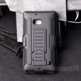 Wholesale Combo Skin Cover Case - Future Armor Impact Defender Holster Belt Clip Combo Hybrid Kickstand Case For Nokia Lumia 650 929 930 Cover Skin With Stand Shockproof