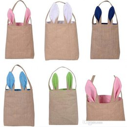 Kids bunny bag canada best selling kids bunny bag from top 100pcs lot fashion cotton and linen easter bunny ears basket bag easter gift packing handbag for kids fine festival gifts negle Gallery