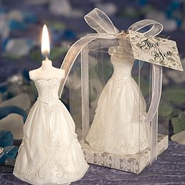 Wholesale Wholesale For Bride Stuff - Elegant Wedding bride Gown Candle Favors for Wedding Party Gifts Stuff Supplies Wholesale Retail package W0020