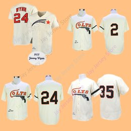 Wholesale Wrinkle Creams - Nellie Fox Jimmy Wynn Joe Morgan Jersey Home Away Cream Cooperstown Houston Colts Baseball Jerseys