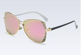 Wholesale Borders Frames - HOKU 2017 New Trend Polarizing Sunglasses Fashion Color Film Large Frame with the side Border Sun Glasses K014