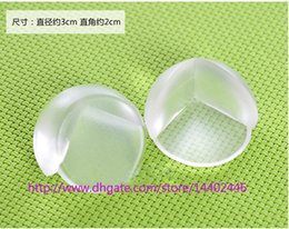 Wholesale Round Shelves - 5000pcs DHL FEDEX Free shipping Round Corner Protectors Corner Cushions For Glass Tables Or Shelves With 3M Sticker Baby Safe free 0001