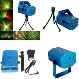 Wholesale Music Stage Laser - 150MW Mini Moving Stage Laser Lights Projectors Starry Sky Red Green LED RG For Music Disco DJ Party Xmas Show Light Projector With Tripod
