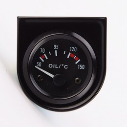 """Wholesale Oil Gauges - Wholesale- Brand New Auto & Racing 2""""(52mm) Universal Oil Temp gauge with oil sender 50~150C Electrical Motorcycly Guage for Sale"""