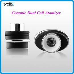 Wholesale Elips Clearomizer - wax dual coil Ceramic atomizer heating clearomizer ceramic coil for micro gpen Elips pen cloud pen ceramic double coil atomizer