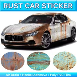 Wholesale Reflective Graphics - Rust Car Sticker Rusted Vinyl Rusty Edition Car Sticker Cover Graphic Decal Wraps Rust Auto Wrapping Car Film Camouflage1.52x30m