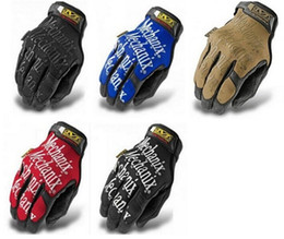 Wholesale Long Black Motorcycle Gloves - Men MECHANIX WEAR Word Windproof Winter Hiking Military Tactical Warm Ski Snowboard Motorcycle Cycling Long Full Finger Gloves