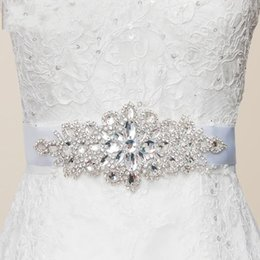 Wholesale Beaded Bow Accessory - Hot Fashion Crystal Beaded Belt for Wedding White Wedding Accessories 2016 Crystals bridal Sashes Beaded Belt for Prom Party Dress J1216