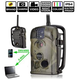 Wholesale Gprs Mms - DHL shipping Ltl acorn Ltl-5210MM 5210MG 940nm MMS GPRS GSM 12MP infrared hunting camera MMS Trail Camera scouting wildview camera