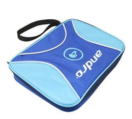Wholesale High Quality Table Tennis Rackets - High quality- Andro square Shape pingpong cover double set  single set Table Tennis racket bag