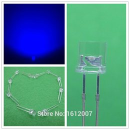 Wholesale Blue 5mm Led Flat - 1000 x LED 5MM Blue Flat Top Wide Angle Urtal Bright Light Bulb Led Lamp F5MM Emitting Diodes Active Components Hot Sale