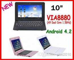 Wholesale Pink Mini Laptop Webcam - 10.1 inch Netbook VIA8880 Dual Core UMPC Android 4.2 1.5GHz Wifi 512M RAM 4GB HDD Camera Mini Laptop Free shipping