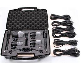 Wholesale Drums Mic - High quality New packaging PGDMK6 Drum instrument mic Set PG52 PG56 PG81 Drum instrument microphone set