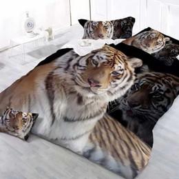 Wholesale Tiger Print Sheets - muchun Brand 3D Tiger Bedding Sets 4 pcs Bedding Comforter Set Duvet Covers Bed sheet Queen Size Home Textile