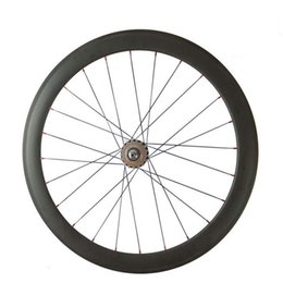 Wholesale Carbon Track Wheels Clinchers - Wholesale-FREE SHIPPING 700c 50mm clincher carbon track bike wheels fixed gear Single speed bicycle wheelset