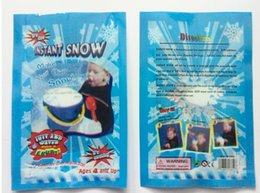 Wholesale Solid Acrylic Ornaments - Magic Snow DIY Instant Artificial Snow Powder Simulation Snow perform Prop Party Christmas Decoration children girl boy gift