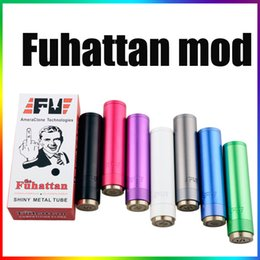 Wholesale Ego Switch - Telescopic mechanical mod Fuhattan mod clone 22mm aluminum mod with spring magnetic switch 18650 battery fit 510 ego thread DHL Shipping