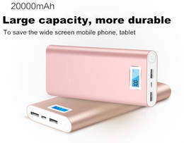 2020 carregador de bateria huawei display LCD 20000mAh Power Bank External Battery Charger powerbank 18650 Livro bateria para Iphone Samsung Huawei Xioami carregador de bateria huawei barato