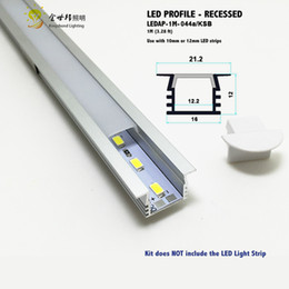 Wholesale Led House Lights Wholesale - Wholesale-10pcs1 meter recessed aluminum profile for led strip, aluminum housing for led strip light,u shape aluminum channel 10mm-12mm