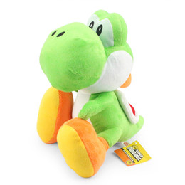 Wholesale Yoshi Game - 11inch Super Mario Bros Yoshi Plush Doll Toy With Tag Soft Yoshi Doll Kid's Gift 28cm