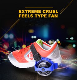 Wholesale Roller Skate Shoes Kids - Children Scooter Kids Sporting Pulley Lighted Flashing Roller Wheels Heel Skate Rollers Skates Wheels Shoe Skate Roller