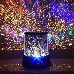 Wholesale Led Light Projectors Sale - Colorful Dreamlike LED Sky Star Master Lights Projector For Sale Night Lamp Sound Asleep Night Bulb Christmas Night Lights Free Shipping