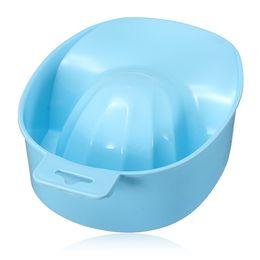 Wholesale Nail Polish Tray - New 1 Pcs Acrylic Nail Soaker Bowl Art Tips Soakers Tray Polish Gel Treatment Remover Manicure Off Bowls Tools