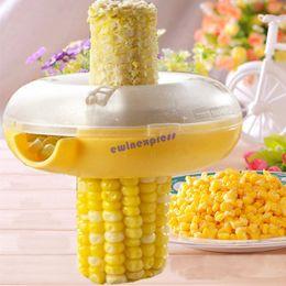 Wholesale Corn Cob Remover Tool - Kitchen Helper Easy Peel One Step Corn Kerneler Stripper Cob Remover Corn Novetly Corn Peeler Vegetable Tools Set