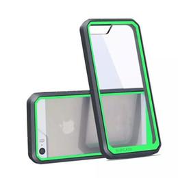 Wholesale Iphone 5s Bumper Cases - Supcase Case Hybrid TPU Bumper Transparent Hard PC Cover for iPhone 5 5S 6 6s plus Samsung Galaxy S6 edge plus Note 5