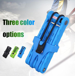 Wholesale Bikes Scooters - Bicycle Lock High Strength steel Anti-Thief 8 Joints Foldable Blue Green Black Bike Lock Motorcycle Electric Scooter